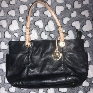 Michael Kors leather black shoulder bag